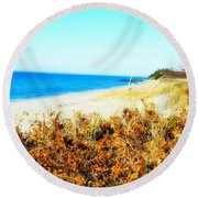 Coastal Lookout Round Beach Towel
