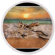 Coastal Morning  Round Beach Towel
