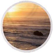 Coastal Rhythm Round Beach Towel