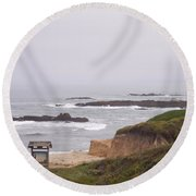 Coastal Scene 7 Round Beach Towel