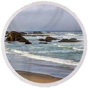 Coastal Serenity  Round Beach Towel