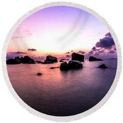 Coastal Sunrise Round Beach Towel