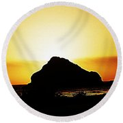 Coastal Sunset IIl Round Beach Towel