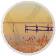 Coastal Winter Round Beach Towel