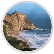 Coastline At Point Reyes National Sea Round Beach Towel