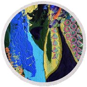 Coat Of Many Colors Round Beach Towel