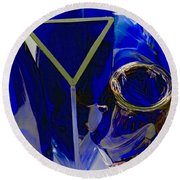 Cobalt Therapy Round Beach Towel
