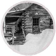 Slayton Pasture Cobber Cabin Trapp Family Lodge Stowe Vermont Round Beach Towel