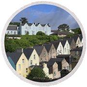 Cobh Town Houses Round Beach Towel