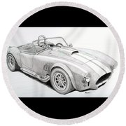 Ac Ford Cobra With 427  Round Beach Towel