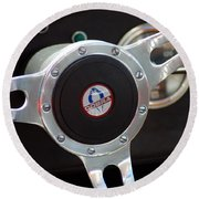 Cobra Steering Wheel Round Beach Towel