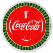 Coca Cola Pop Art  Round Beach Towel