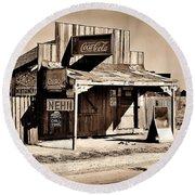 Coca Cola Shack Round Beach Towel