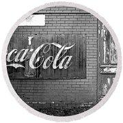 Coca-cola Sign Round Beach Towel