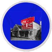 Coca-cola  Sign Palace Cafe Sumter South Carolina 1912-2013   Round Beach Towel