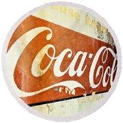 Coca Cola Sign  Round Beach Towel