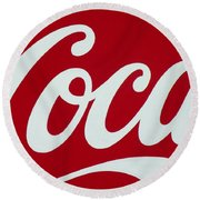 Coca Round Beach Towel