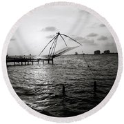 Dusk At Cochin Round Beach Towel