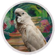 Cockatoo  Round Beach Towel