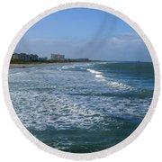 Cocoa Beach Seascape Round Beach Towel