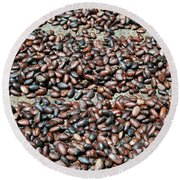 Cocoa Beans Round Beach Towel