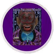 Cocoa The Cyber Monkey Round Beach Towel