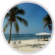Coconut Beach  Round Beach Towel