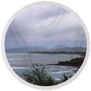 Coconut Coast Shoreline Round Beach Towel