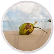 Coconut Round Beach Towel
