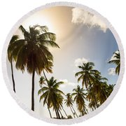 Coconut Trees Round Beach Towel