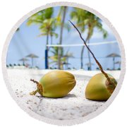 Coconuts Round Beach Towel