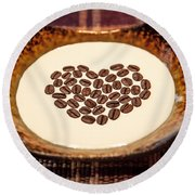 Coffee And Cream Round Beach Towel