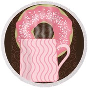 Coffee Break Round Beach Towel