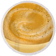 Coffee In Yellow Round Beach Towel