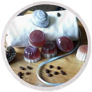 Coffee Soap Round Beach Towel