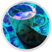 Coffee Time My Time 5d24472p168 Round Beach Towel