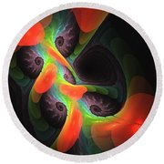 Cognitive Malfunction Round Beach Towel