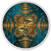 Coherence - Abstract Art By Giada Rossi Round Beach Towel by Giada Rossi