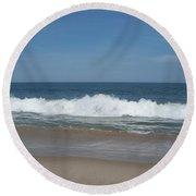 Coin Beach Md Ocean Wave Round Beach Towel