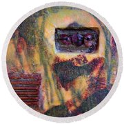 Coin Of The Realm Encaustic Round Beach Towel