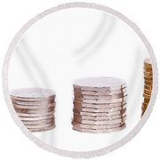 Coin Stack Round Beach Towel