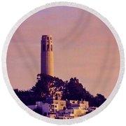 Coit Tower Round Beach Towel