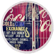 Coke And Gold Round Beach Towel