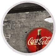 Coke Cola Sign Round Beach Towel