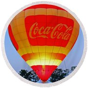 Coke Float Round Beach Towel