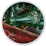 Coke Return For Deposit Round Beach Towel