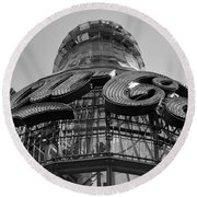 Coca Cola Building Round Beach Towel
