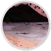 Cola Beach Sunset Round Beach Towel