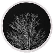 Cold And Lonely Round Beach Towel