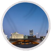 Cold Fire Round Beach Towel